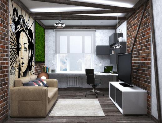 Комната студента в современном стиле