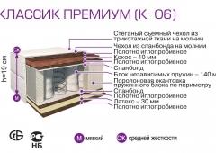 Матрас ПРЕМИУМ К-06