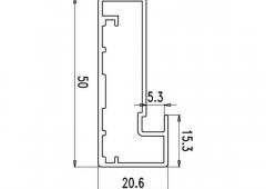 Профиль Z-4 для стеклянной двери