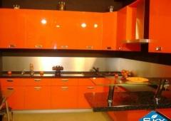 Кухня ЗОВ Акрил Облепиха