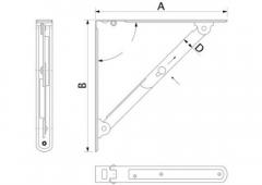 Полкодержатель складной модель 3
