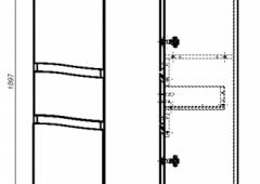 61.34(9) Шкаф 35 Фиджи с ящиком и дверями L/R
