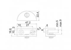 Полкодержатель для стеклянной полки WP2710