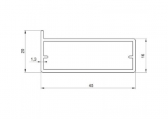 Профиль Z-11 для стеклянной двери
