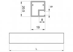 Профиль Z-1 для стеклянной двери