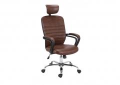 Кресло компьютерное HALMAR MIKAS темно-коричневое