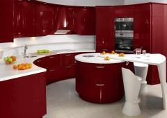 Кухня ЗОВ Акрил Бордо