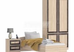 Персей спальня (кровать 0,8 + пеналы + тумба)