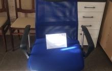 Кресло поворотное ARIA черный+синий