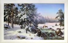 Репродукция на холсте Зимняя река