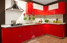 Кухня ЗОВ  Пост Красный монохром