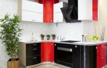 Кухня ЗОВ  Черный лотос/Красный монохром, кухни минск, кухни под заказ