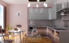 Кухня ЗОВ  Серебро перл./Рубиновоя полоса,мебельмакс,мебель
