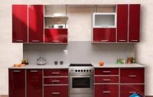 Кухня ЗОВ Красный монохром