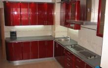 Кухня МДФ крашенный /  Фасад RAL 3001 Глянец Мебельмакс кухни под заказ
