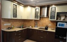 Кухня МДФ крашенный RAL 8016/9010 Глянец