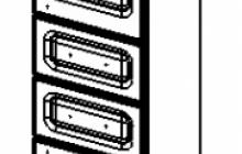 17.11(52) Шкаф 30 Аврора с ящиками правый
