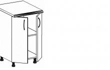 Шкаф-стол кухонный  ШЛ (60/2, 80/2) из набора мебели для кухни «АЛЕСЯ»