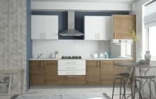 Кухня с фасадами из ламинированного ДСП