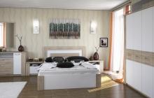 Спальня Вирджиния Дуб Бонифаций/Белый