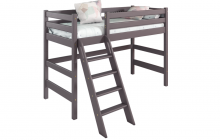 """Вариант 6 Полувысокая кровать """"Соня"""" Лаванда с наклонной лестницей"""
