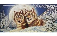 Гобеленовое панно - Два волка