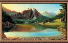 Репродукция на холсте Утро в горах