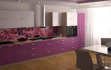 Кухня МДФ крашенный белый сереневый,мебельмакс мебель,ЗОВ