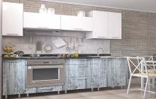 Кухня,Белый- Дуб меловой,пластик,ЗОВ,мебельмакс,мебель