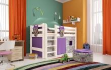 """Вариант 11 Низкая кровать """"Соня"""" с прямой лестницей"""