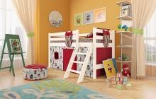 """Вариант 12 Низкая кровать """"Соня"""" с наклонной лестницей"""