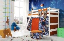 """Вариант 6 Полувысокая кровать """"Соня"""" с наклонной лестницей"""
