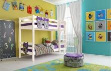 """Вариант 9 Двухъярусная кровать """"Соня"""" с прямой лестницей"""