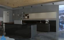 Кухня ЗОВ Акрил Тальк/Графит