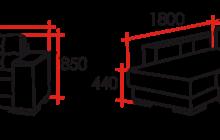 Размеры Угловой диван Кватро-Макс