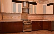Кухня мдф Глянец 4,1 на 1 м/ Мебельмакс кухни под заказ