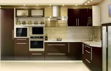 Кухня МДФ крашенный RAL 8017 матовый