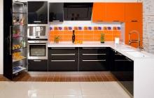 Кухня МДФ крашенный RAL 2000/9005 глянец,мебельмакс,мебель