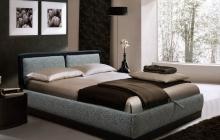 Кровать, Моника, Пуфф, прямая, Мебельмакс, мебель