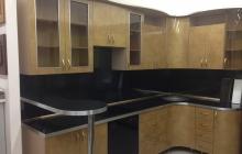 Кухня,золото,пластик,ЗОВ,мебельмакс,мебель
