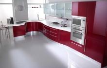 Кухня МДФ крашенный RAL 3032