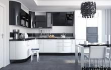Кухня МДФ крашенный RAL 5004-9003