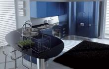 Кухня МДФ крашеный RAL 5026,мебельмакс,мебель
