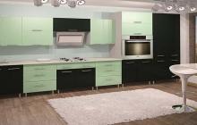 Кухня МДФ крашенный Салат глянец,мебельмакс,мебель