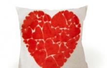Подушка сердце в сердце