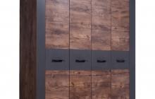 Шкаф для одежды 100.1820 Таксус/Графит