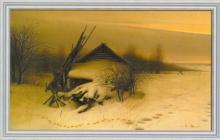 Репродукция на холсте Зимний вечер