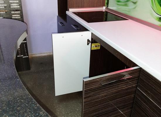"""Набор мебели для кухни """"Алеся"""" ПОСТ-3 Зелёный/Мореный дуб"""