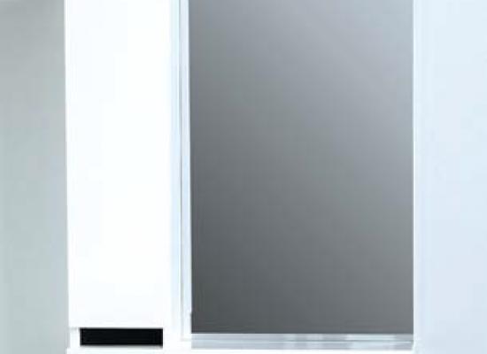47.02-01 Полка зеркальная со шкафом 60 Бергамо левая (47.02 Полка зеркальная со шкафом 60 Бергамо правая)
