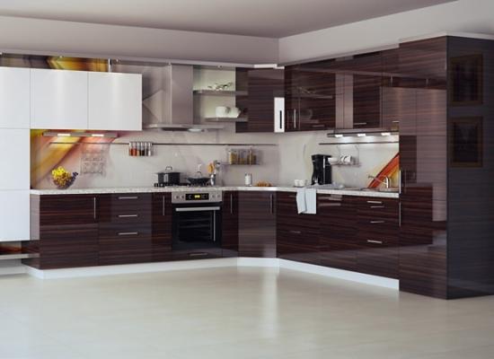Кухня ЗОВ Акрил Сахар_Зебрано темный